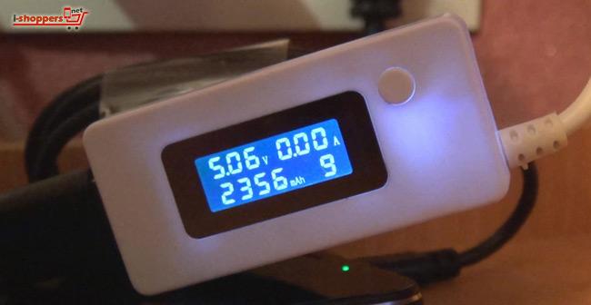 проверка аккумулятора тестером USB