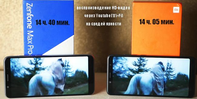 автономность Asus и Xiaomi