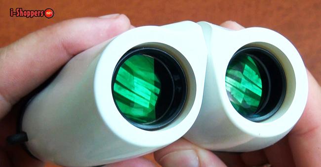 бинокль с оптикой просветленной зеленой пленкой