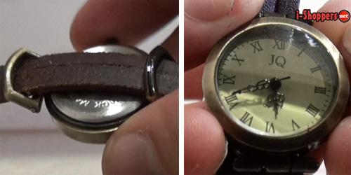 кварцевые часы с кожаным ремешком
