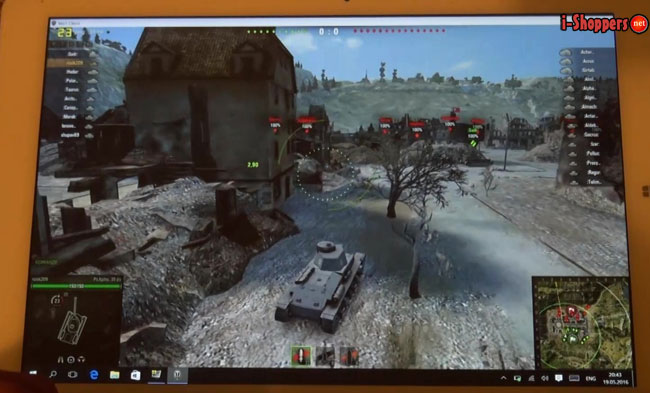 chuwi hi12 Game Test World of Tanks Windows