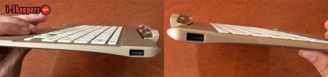 2 USB порта на клавиатуре