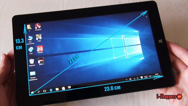 chuwi vi10 ultimate размеры экрана