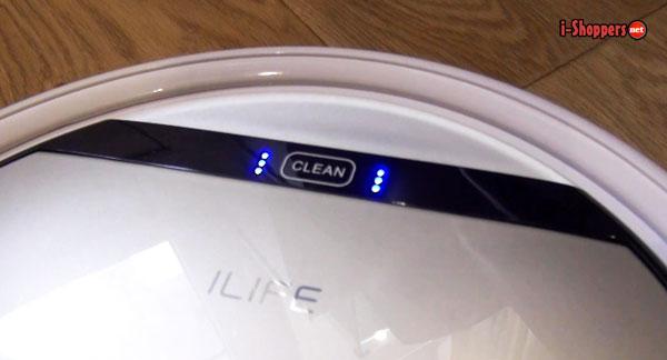 кнопка Clean - старт уборки