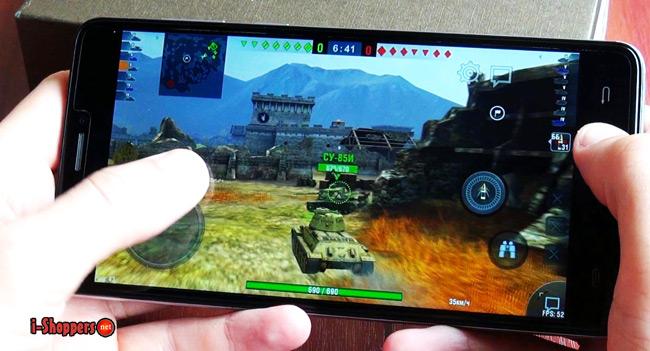 game test WOT Blitz на смартфоне Cubot Max