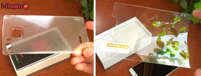 бампер и закаленное стекло для cubot s600