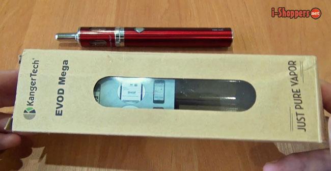 картонная коробочка с электронной сигаретой