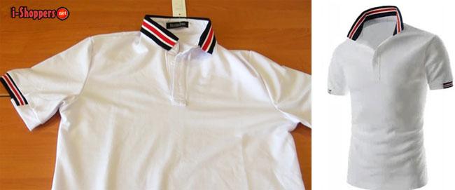 белая футболка поло из Саммидресс