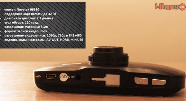 характеристики видеорегистратора