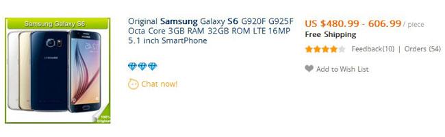 отзыв о Galaxy S6 с Aliexpress