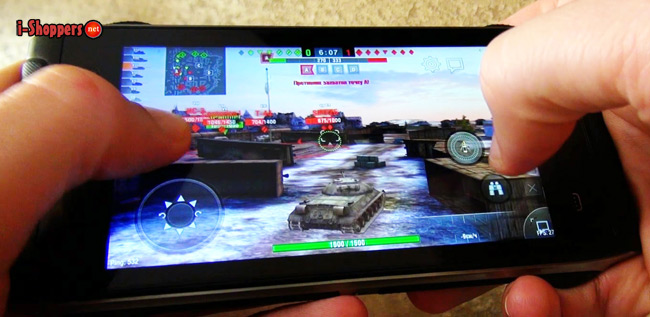 Game Test WOT BLITZ на HomTom HT20