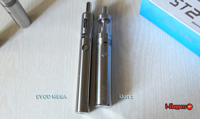 Eleaf iJust 2 VS Evod mega сравнение