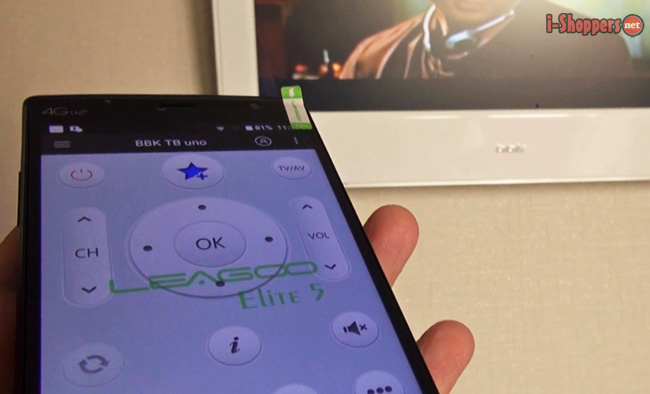 leagoo elite 5 имеет ИК порт для использования как пульт ДУ