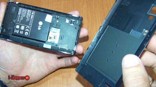 антенна NFC на крышке смартфона