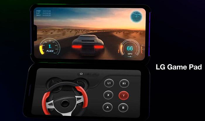 чехол с экраном для LG V50 ThinQ