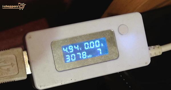 проверка батареи USB тестером