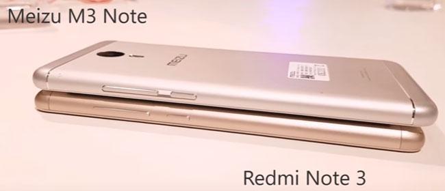 сравнение Meizu M3 Note с Xiaomi Redmi Note 3