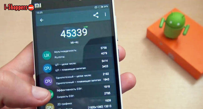 тест AnTuTu на Xiaomi Mi4C
