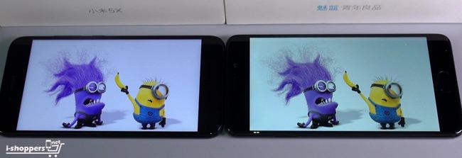 сравнение экранов Xiaomi и Meizu