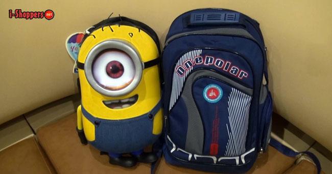 школьный рюкзак миньон для мальчиков и девочек