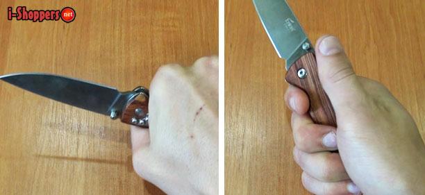 хват ножа