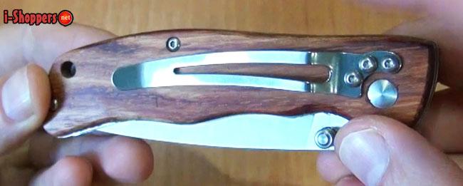 клипса на ноже