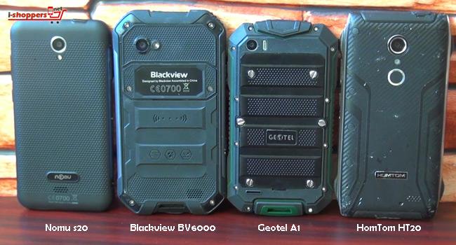 NOMU S20 сравнение с Blackview BV6000 и HomTom HT20