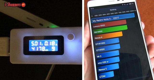 тест батареи Redmi Note 3 pro