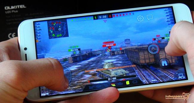 Game Test WOT BLITZ Oukitel u20 Plus