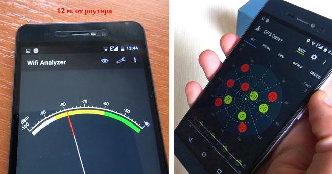 тест WiFi и GPS