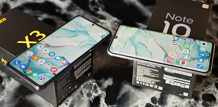 битва Poco X3 и Xiaomi Mi Note 10 Lite