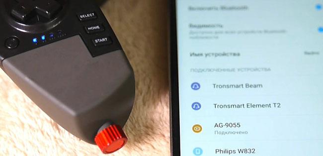 как подключить джойстик к смартфону по bluetooth