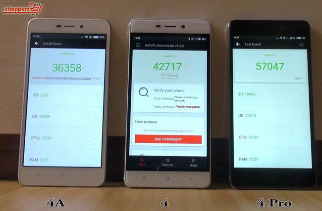 тест AnTuTu три смартфона Xiaomi Redmi 4