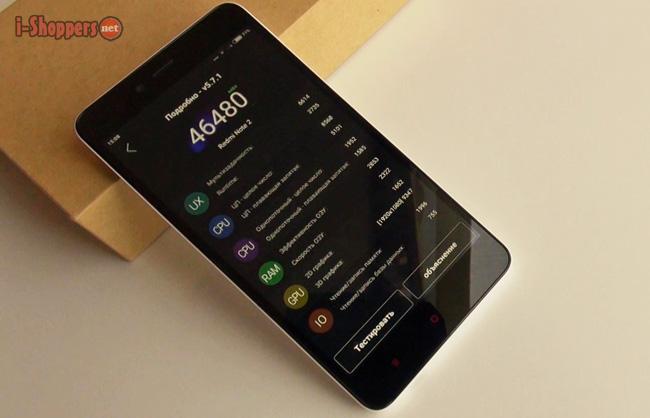 тест AnTuTu Xiaomi redmi Note 2