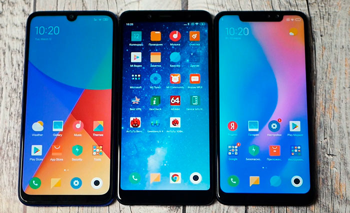 сравнение Redmi Note 7, Note 5, Note 6 pro