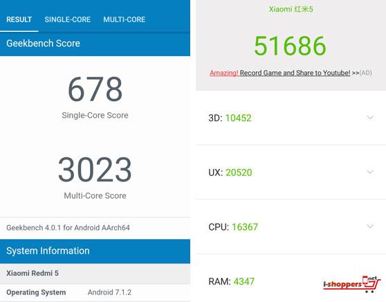 Xiaomi Redmi 5 Antutu Benchmark