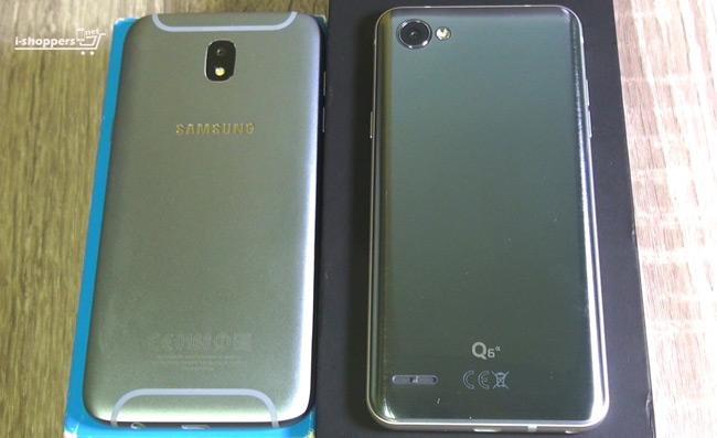 сравнение Galaxy J5 2017 и LG Q6