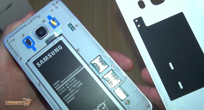 на крышке антенны NFC