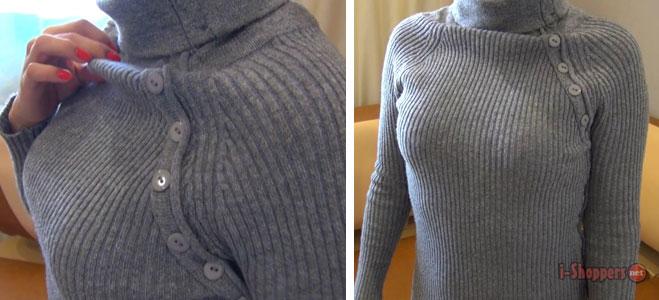 примерка свитера