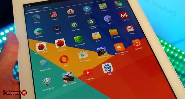 Android 5.1 в планшете Teclast