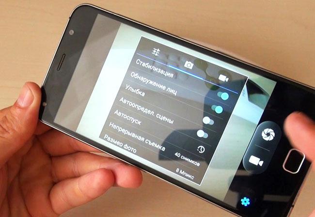 интерфейс камеры Android 6.0