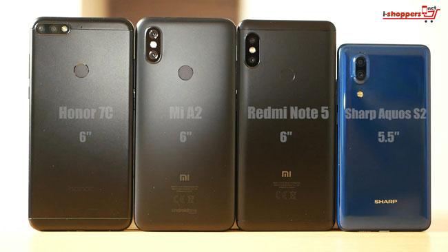 Mi A2 рядом с Redmi Note 5
