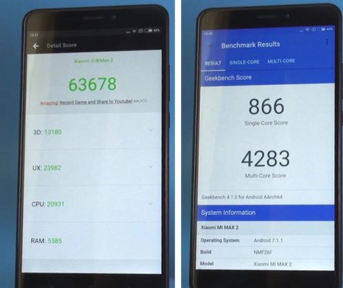 Xiaomi Mi Max 2 Antutu