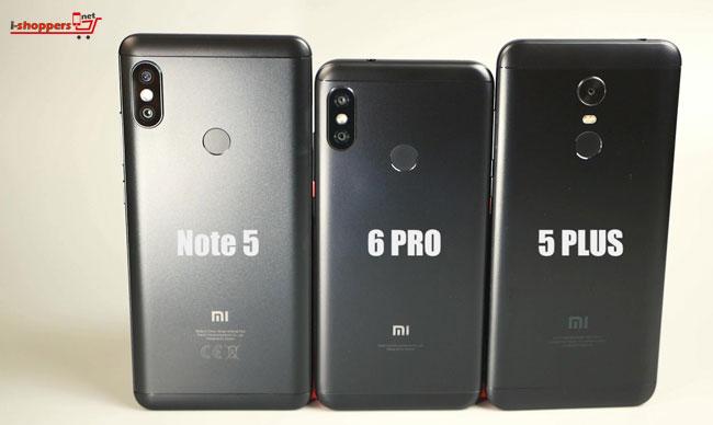 сравнение Redmi 6 Pro и Redmi Note 5