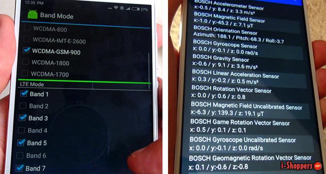 датчики Redmi Note 4