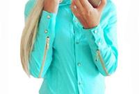 блузка с молниями на рукавах